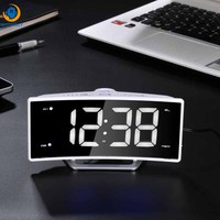 LED Digital Electronic Table Projector clock office living room decoration With adapter Usb charge soonze Watch Desk Nixie cloc