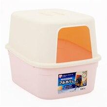 Cat Bedpan Large Enclosed Closed Toilet Box Trays Plastic Dog Cat Box Toilet Sand BedPan Litter Pets WC Trays Nip Basin QQM2406