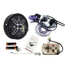 QS 10 ''4000 W 72 V Hub Motor Voor Elektrische Motorfiets Conversie Kits Met Controller Kelly KLS7245H Remmen Regeneratieve 100 km/h