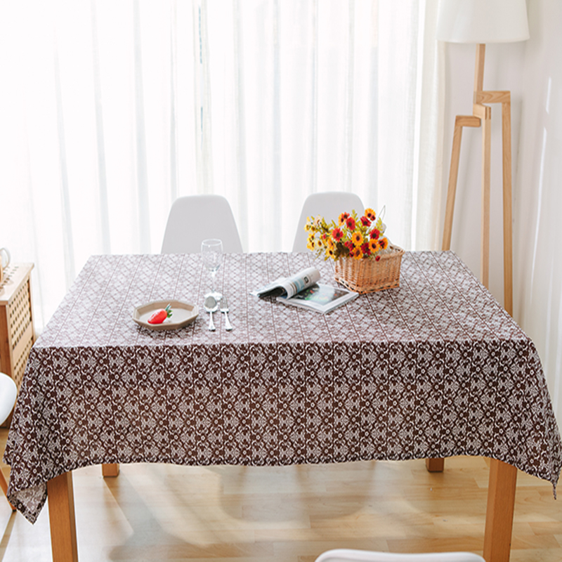 pure linen cotton table cloth coffee tea table cloth embroidery flower home hotel restaurant decoration style deal free shipment