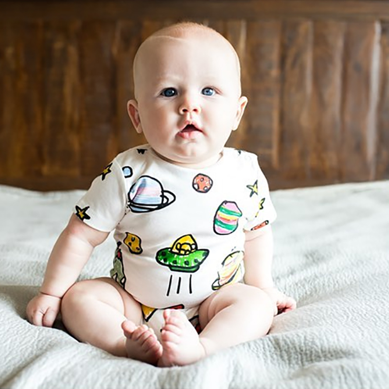 TinyPeople 2019 Baby Onesies Summer Short Sleeve Cotton Fabrics Jumpsuit Bebe Bodysuit Baby Boys Romper Cute Newborn Clothes