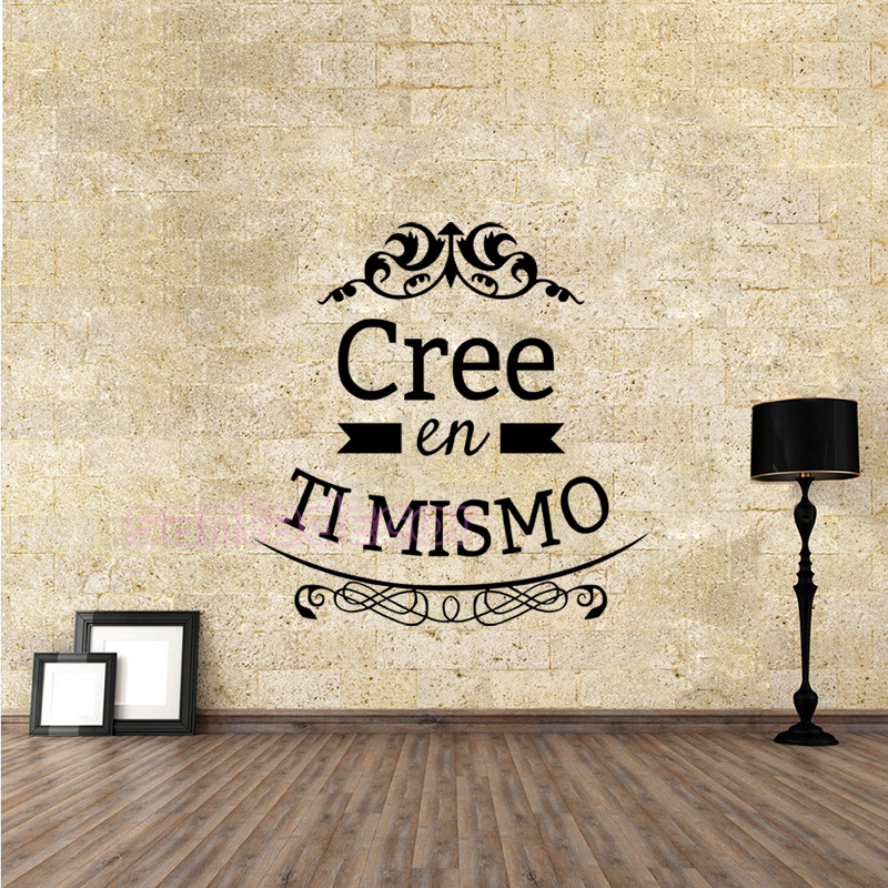 Cree En Ti Mismo Vinyl Wall Stickers Spanish Wall Decals Art Home