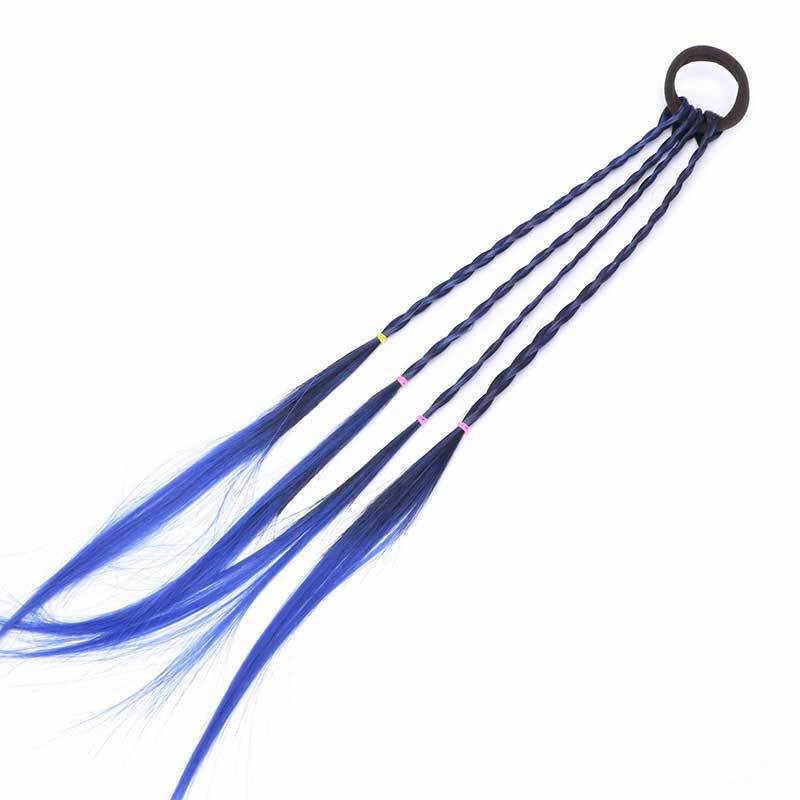 Proste dziecko elastyczna opaska do włosów gumka do włosów akcesoria dla dzieci peruka z pałąkiem na głowę dziewczyny Twist plecionka stroik dziecko prezent