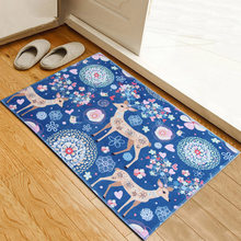 Cartoon Animal Printed Welcome Entrance Mats Non-slip Door Mats Indoor Hallway Rugs Carpets For Children's Room Kids Room Rugs(China)