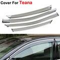 4 pçs/lote Car Styling toldos abrigos chuva sol janela Visor para Nissan Teana Altima 2014 2015 etiqueta Covers acessórios escudo