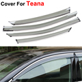 4pcs/lot Car Styling Awnings Shelters Rain Sun Window Visor For Nissan Teana Altima 2014 2015 Sticker Covers Accessories Shield
