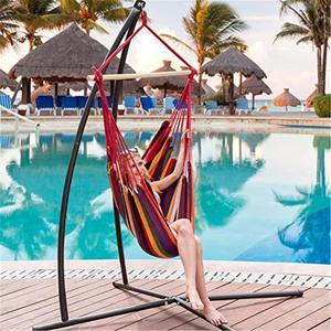 Image 3 - Гамак для кемпинга на открытом воздухе, для сада, для домашнего путешествия, гамак, подвесная кровать, парусиновая веревка в полоску, для сна, отдыха, хамака, гамаки