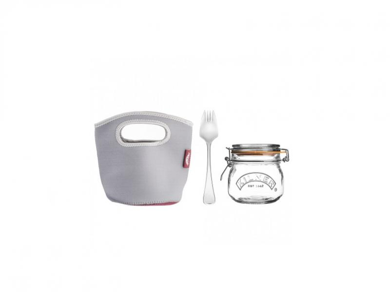 Set lunch box KILNER, 3 Subject, Gray the lunch box chronicles