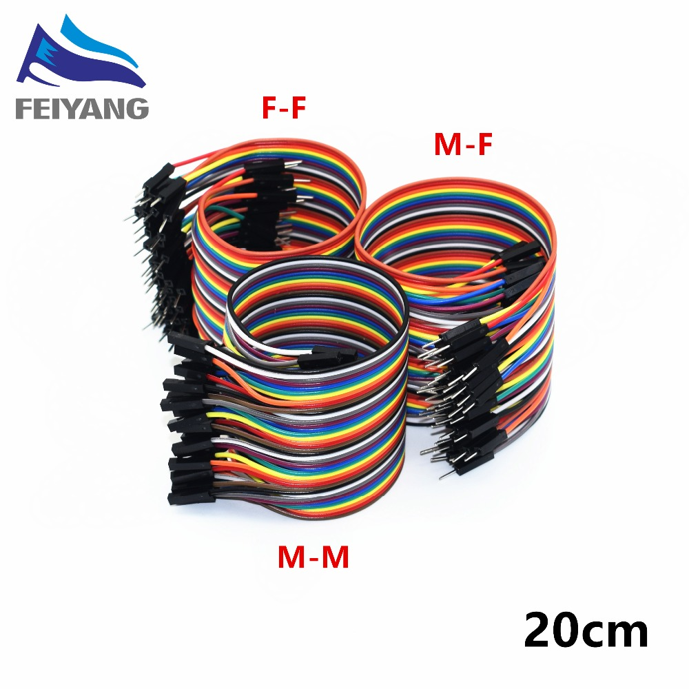 Dupont Line 20cm Male to Male Male to Female Female to Female Jumper Wire Dupont font