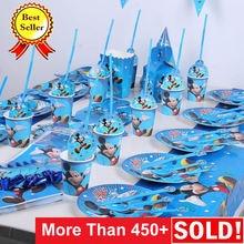 Микки Маус День рождения украшения поставки дети события вечерние скатерть баннер на тарелке, чашке мальчик ребенок душ anniversaire сувениры