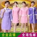 Roupa de trabalho das mulheres outono e inverno roupas macacão esteticista enfermeira terno esteticista roupas vestido novo do307
