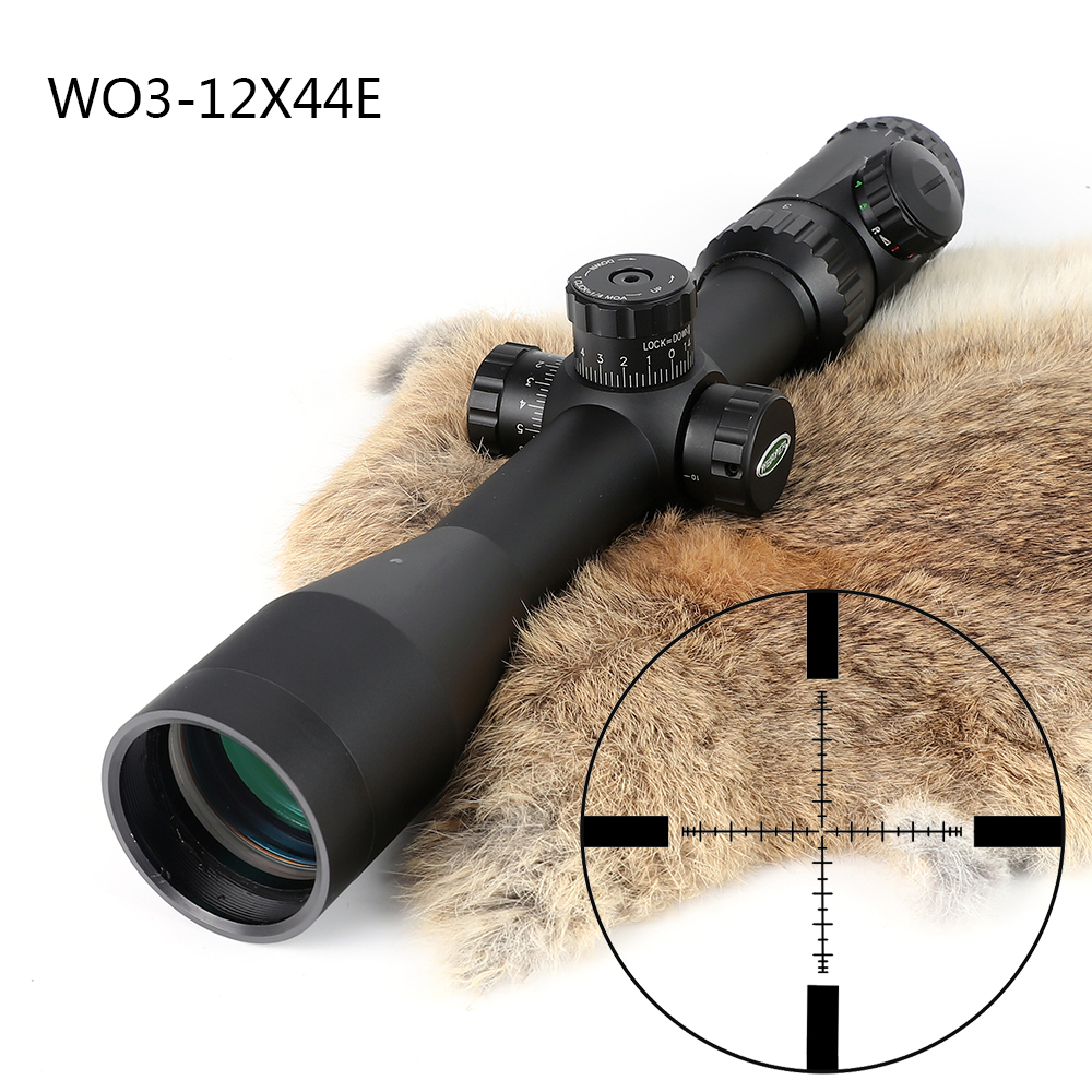 Hunting Shooting 3 12X44 Optical Sight P4 Glass Etched Reticle Riflescopes Side Parallax Adjustment Rifle Scope