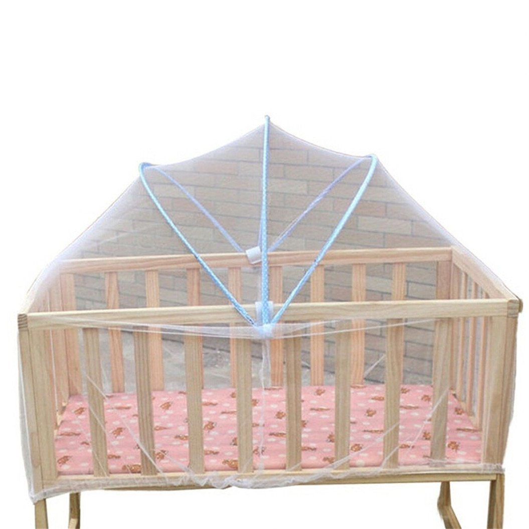1 x For Baby Cradle Bed Mosquito Nets Summer Baby Safe Arched Mosquitos Net, Random Color