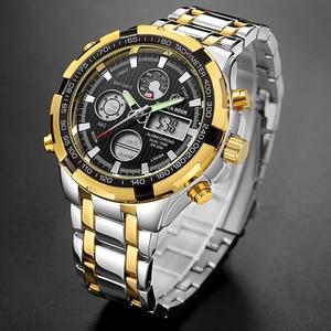 Image 3 - GOLDENHOUR Luxury Brand Quartz Wrist Watch Analog Digital Watches Men Army Military Sport Watch Relogio Masculino Male Clock