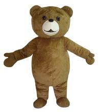 새로운 테드 의상 테디 베어 마스코트 의상 무료 배송