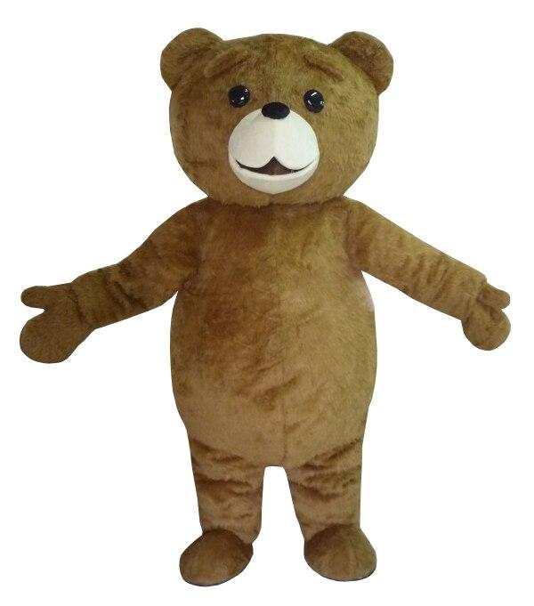 New Ted Costume Teddy Bear Costume Della Mascotte Shpping libero