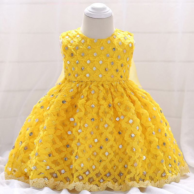 Baby Girl Dress Yellow Sequin Beaded Stunning Pageant Dress Prom Birthday Party Frocks Special Occasion Dress A015 bebe Vestidos цены