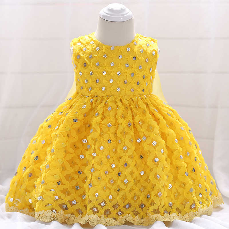 c2888f9fc94c Detail Feedback Questions about Baby Girl Dress Yellow Sequin Beaded ...