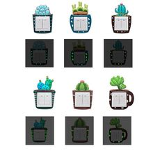 Luminous Cactus Switch Sticker Creative Cover Socket Wall Decorative