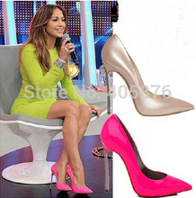 Size EU 33-43 metal heel womans nude pink shoes,women summer 10CM steel high heels sexy nude pink PU leather pointed toe pumps