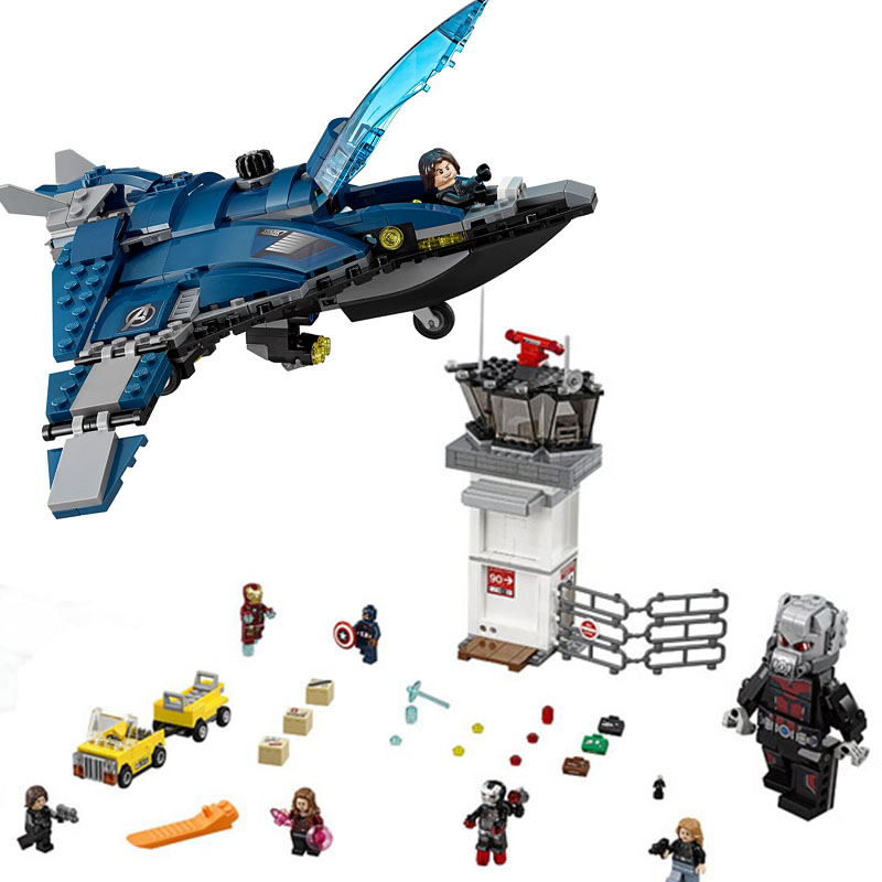 Marvel Captain America 3 Civil War Giant Ant Man airport for Avengers Building block bricks compatible legoinglys for kids giftsMarvel Captain America 3 Civil War Giant Ant Man airport for Avengers Building block bricks compatible legoinglys for kids gifts