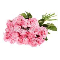 Artificial Real Latex Touch 20pcs Rose Flower Bouquet Decor Gradient