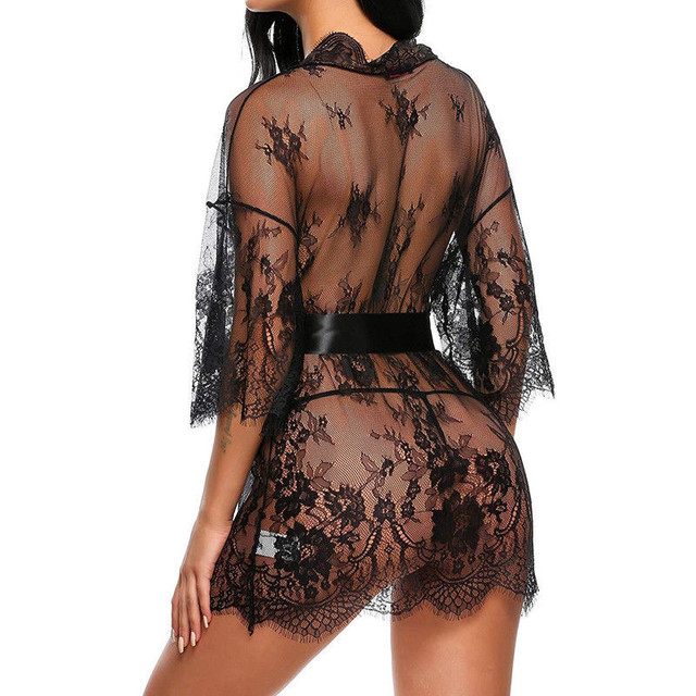 Nightwear Robes with G-string Babydoll Women Sleepwear