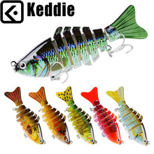 1PC New Swimbait Fishing bait 7 Sections Fishing Lure 10cm-4″/0.55oz-15.5g 6# Good High quality Hook Fishing Sort out