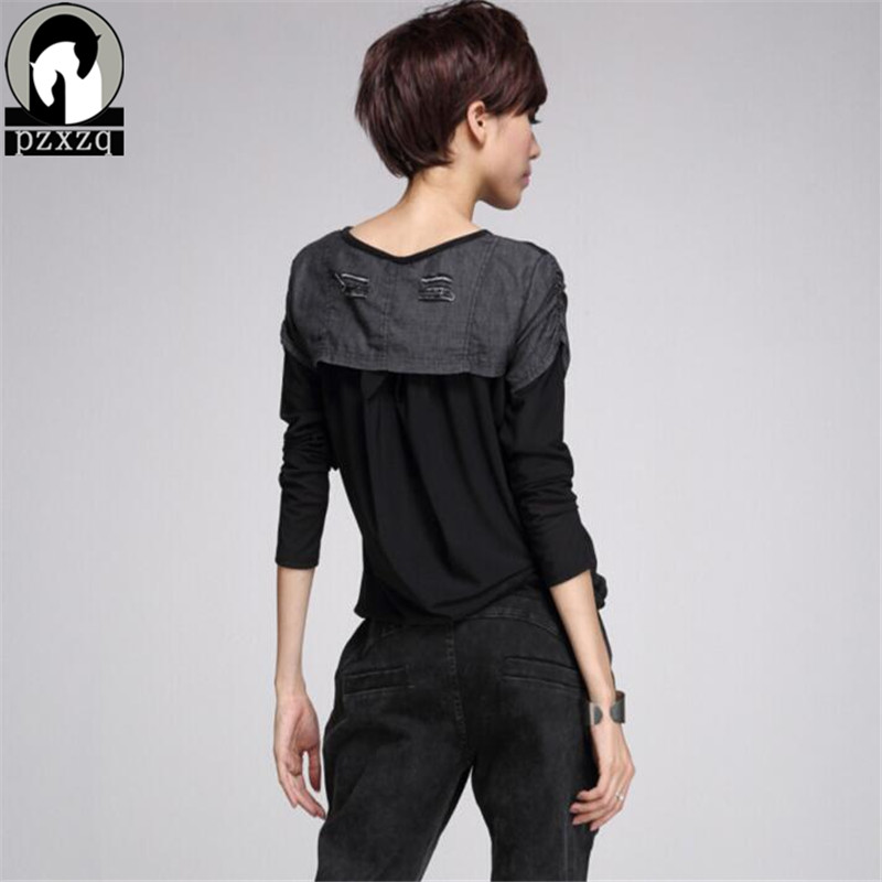 Јесен Т схирт мајица Секи чипка - Женска одећа - Фотографија 4