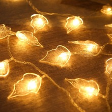 10M 100leds Leaves Shape LED String Lights Holiday Decor Outdoor Christmas Led Flashing Willow Tree