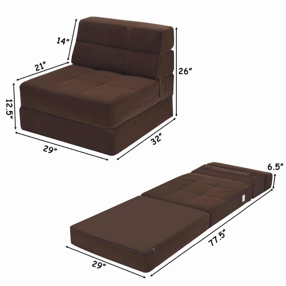 Giantex Tri Fold Down Cadeira Flip