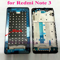 Moldura de ouro prata preto substituição frente frame/moldura para xiaomi redmi note3 note 3