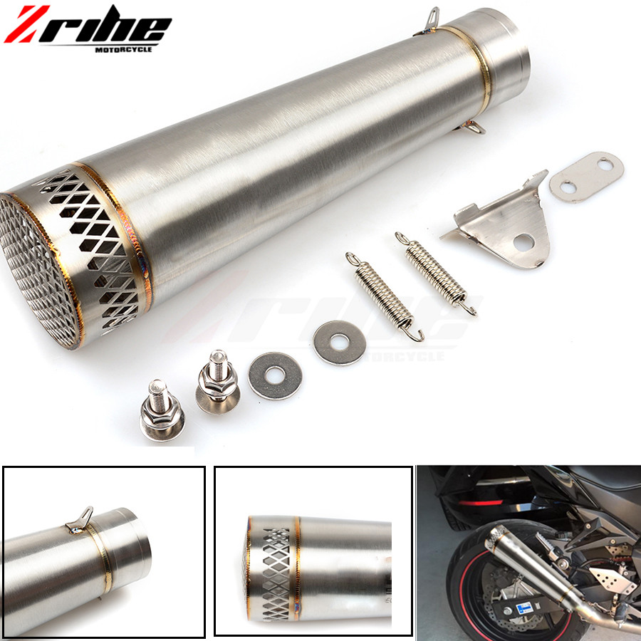 For 36-51mm Motorcycle Exhaust Pipe Scooter Modified Muffler Pipe Universal for Kawasaki z750 z800 z900 z1000 zx9r/zx10r zx6r