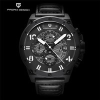 PAGANI DESIGN Classic Men Luxury Sport Watch Unique Layered Face Three Functional Sub Dial Auto Date