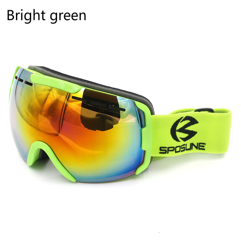 Skiers Glasses Men Women Double-layer Anti Fogging Windproof Anti Sand Anti Ultraviolet Mountaineering Goggles