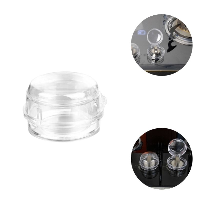 Knob Switch-Cover Kitchen-Accessories Locks Gas-Stove Cooker Transparent-Sleeve Oven