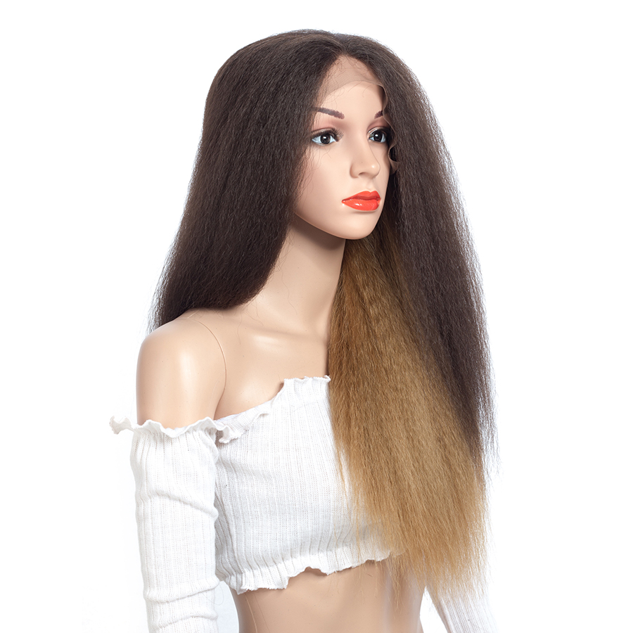 Aigemei Mulheres Dianteira Do Laço Perucas de Cabelo Sintético Curly Longo 24 polegadas Multi color Fibra Cosplay Peruca Dianteira Do Laço Para As Mulheres