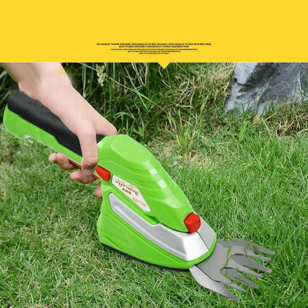 Hedge Shears Lawn Trimming Branches Fence Tools Gardening  Manganese Steel Blade 3.6V Rechargeable Lithium Battery Trimmer