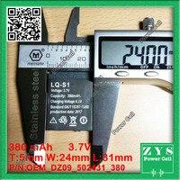 Imballaggio di sicurezza (Livello 4) 1 pcsOriginal ricaricabile Li-Ion Battery 3.7 V 380 MAH Intelligente Orologio Batteria Batteria di Ricambio per Smart