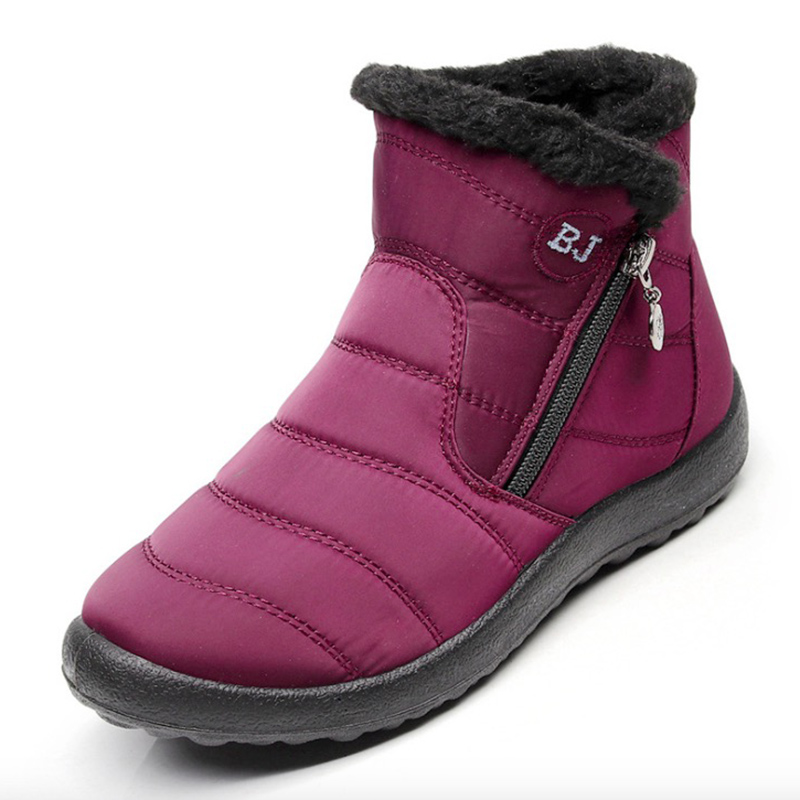 Impermeable Botas Boots red brown Mujer Mujeres Invierno Women Las Boots  Tobillo Abajo Zapatos Moda Black ... 80752cd0892d