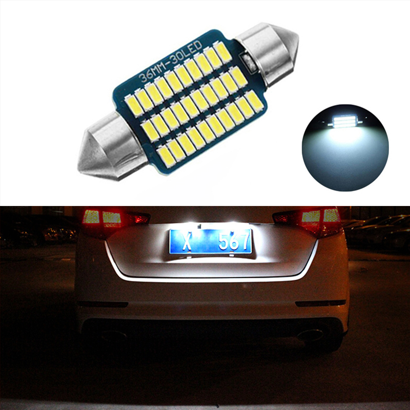 Pack of 2 NGCAT LEDs 3528 24SMD Bulb License Number Plate Light Lamps CanBus