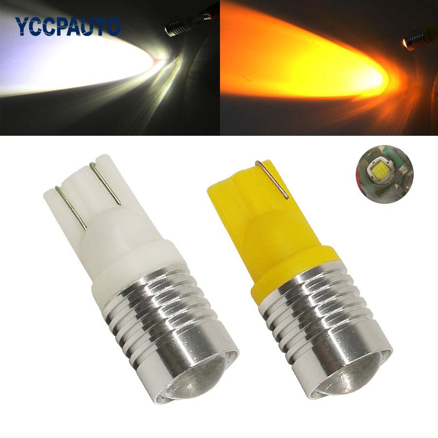 T10 Led Lights 168 194 W5W White Car Parking License Plate Lights 3W Car light Source LED Bulbs 4pcs Good quality