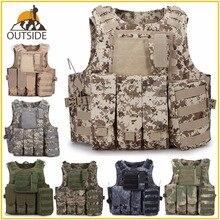 Камуфляжный охотничий военный тактический жилет Wargame Body Molle Armor охотничий жилет CS SWAT Team Уличное оборудование для джунглей