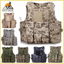 Camouflage Hunting Military Tactical Vest Wargame Body Molle Armor Hunting Vest CS SWAT Team Outdoor Jungle Equipment