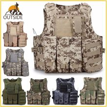 Camouflage Hunting Military Tactical Vest Wargame Body Molle Armor Hunting Vest CS SWAT Team Outdoor Jungle Equipment(China)