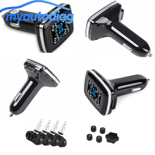 Wireless Digital Tire Pressure Monitoring System  Internal / Extenal TPMS Alarm Car Charger