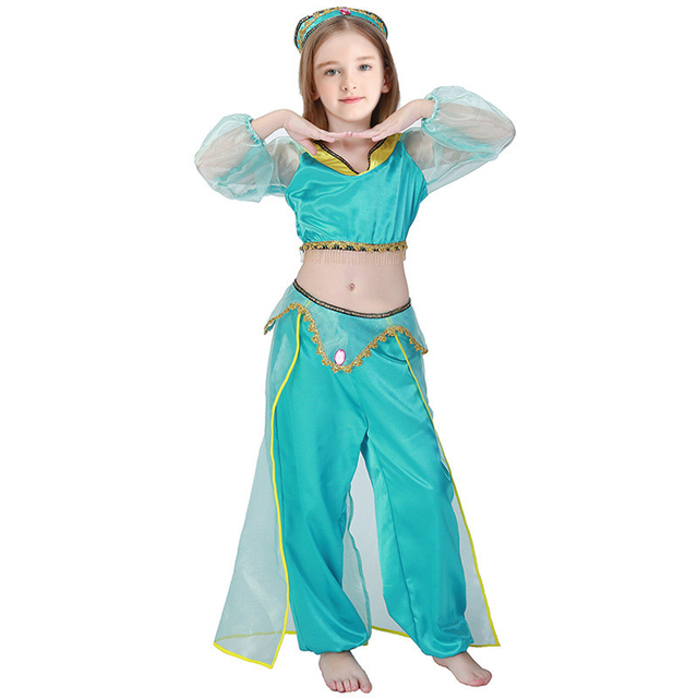 Girls Aladdin's  Jasmine Princess Costumes