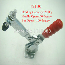 5PCS 227KG 500LBS U Shape Bar Flanged Base Straight Handle Vertical Type Toggle Clamp 12130