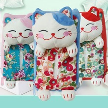 Cute Lucky Cat Home Car Seat Rectangle Hanging Tissue Holder Box Bag Decoration