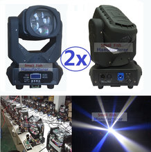 2 Xlot Led Moving Head Licht 4X25W Super Beam Light Wit Tianxin Led Lcd Display Afsluitbare Neutrik powercon Karton Of Flightcase(China)